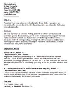 design resume samples sections and writing tips