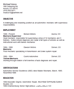 maintenance resume sections and effective samples
