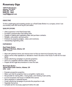 Effective Samples for Real Estate Resume Sections